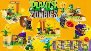 Unboxing and Build Plants vs Zombies PVZ Mini Sets Ice Peashooter Chomper Sunflower Zombies Lego DIY thumbnail