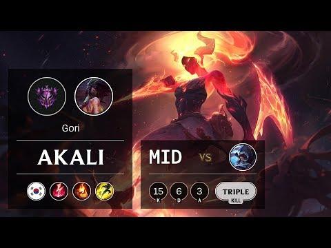 Akali Mid vs Talon - KR Master Patch 9.9