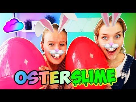 OSTERN SLIME CHALLENGE Nina & Kathi suchen SCHLEIM ZUTATEN IN OSTEREIERN Don't choose the wrong egg