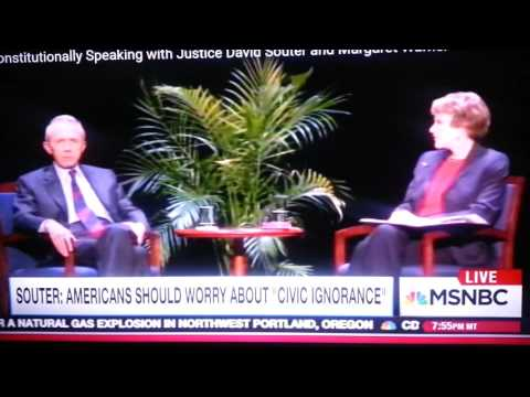 Justice David Souter predicts the rise of Donald Trump