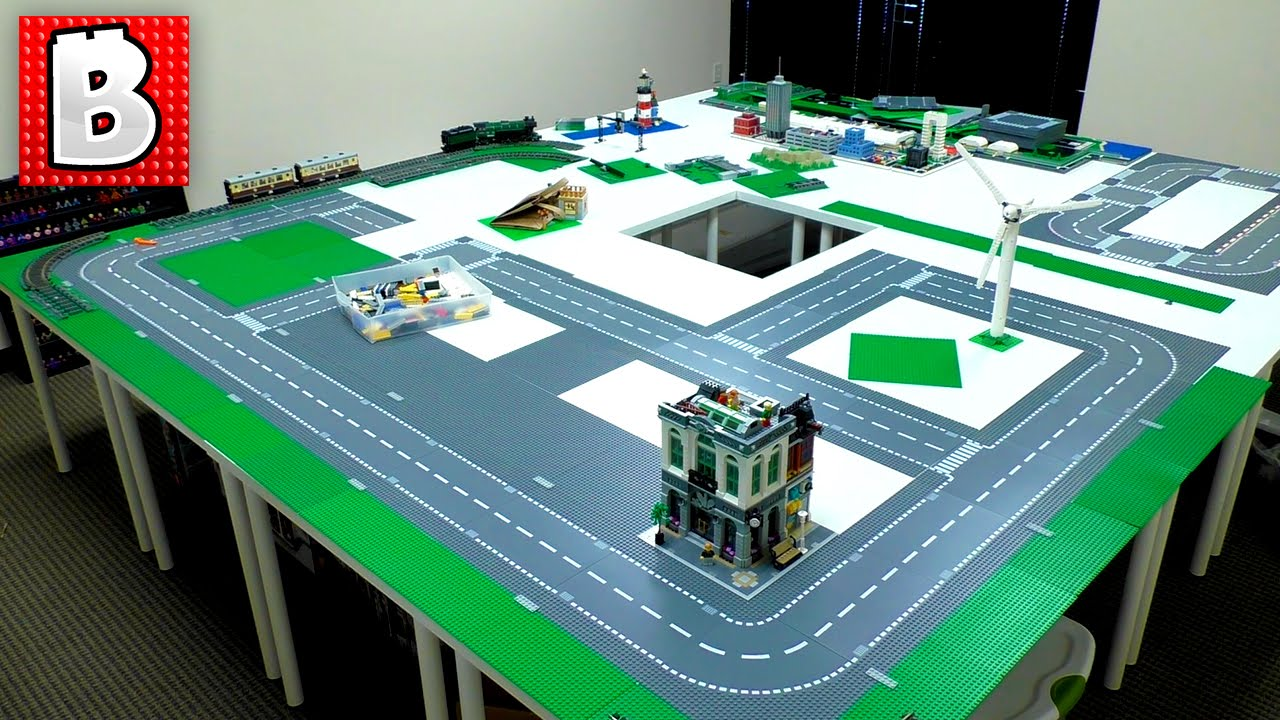Making A Lego City The Foundation Youtube