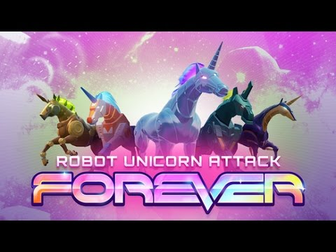 ROBOT UNICORN ATTACK 3 FOREVER Android / IOS Gameplay Video