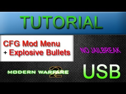 TUTORIAL: CFG Mod Menu with Explosive Bullets // 1.14 MW2 {USB Mod Menu}