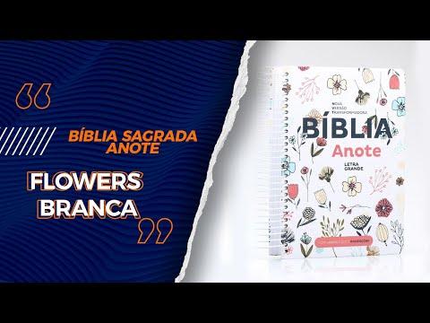 bíblia-sagrada- -nvt- -letra-grande- -capa-dura- -anote-flowers-branca---livrarias-família-cristã