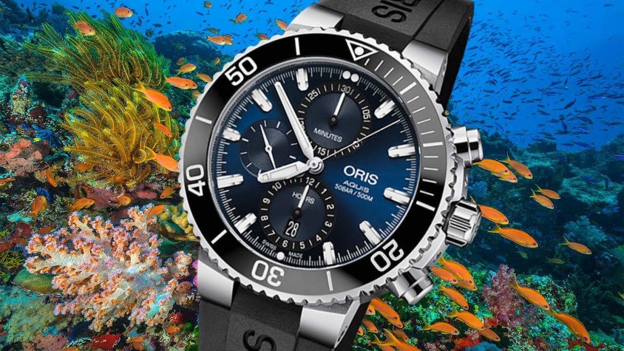 0713263a4bd0 Review  Oris Aquis Chronograph Blue - YouTube