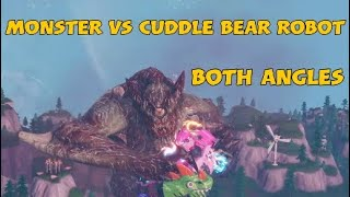 Fortnite MONSTER vs CUDDLE BEAR ROBOT Season 9-10 EVENT (Both Angles)