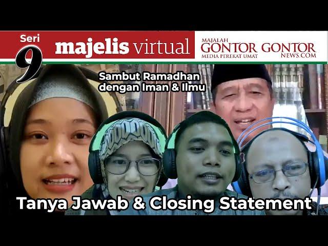 [MVMG 9 Part 4 ] TANYA JAWAB & CLOSING STATEMENT NARASUMBER