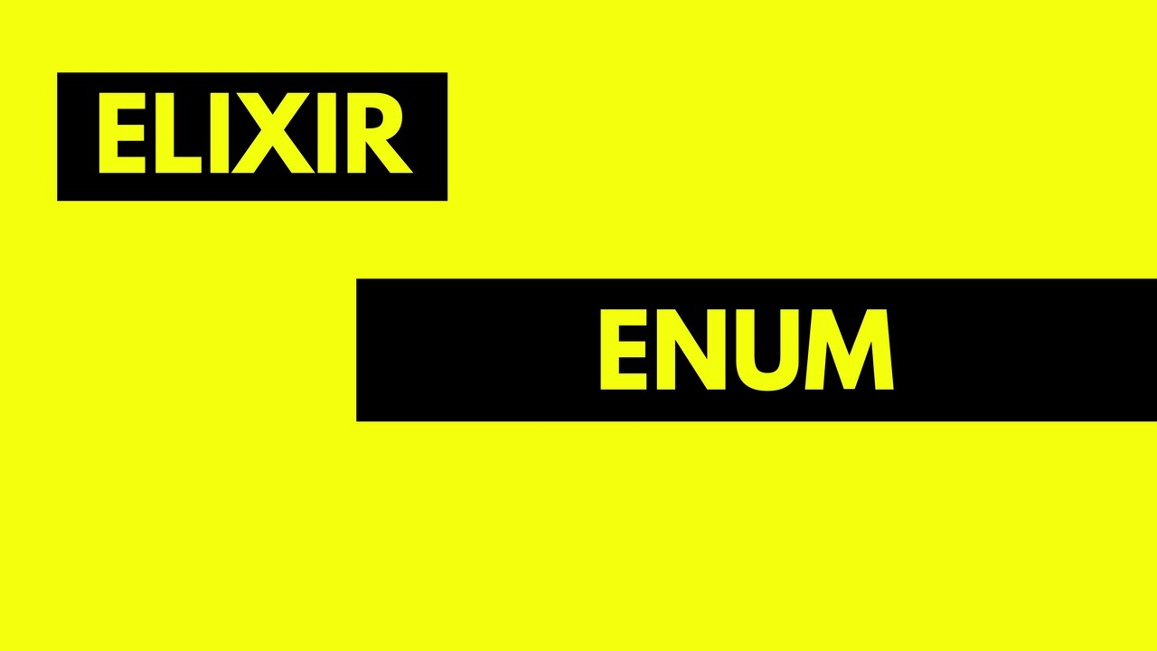 Elixir Enum module