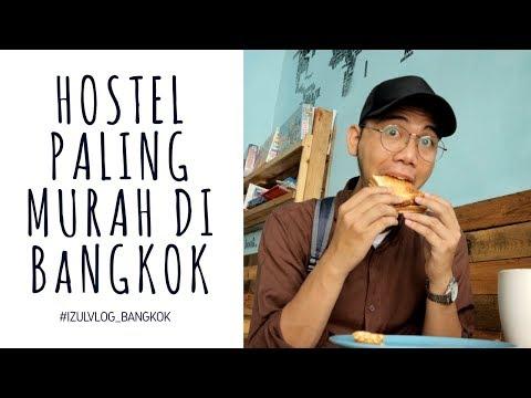 GILA MURAH BANGET !!! HOSTEL TERMURAH SE BANGKOk : #izulvlog #explorethailand