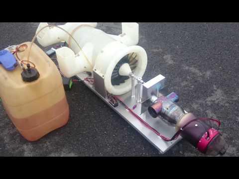 K-210 turbofan bench test