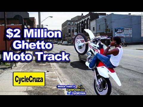 $2 Million Dirt Bike Track in Cleveland Ohio Ghetto | MotoVlog