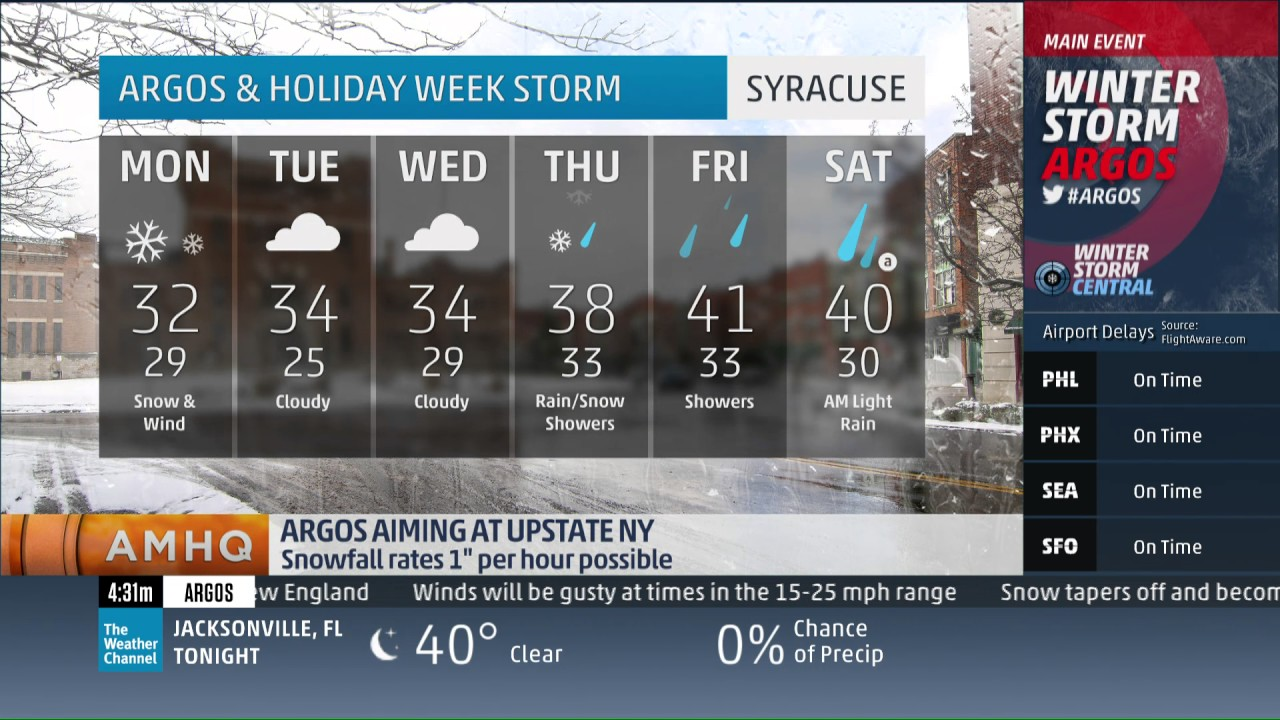 mike seidel the weather channel syracuse  ny lake effect 6