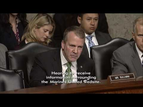 Sen. Dan Sullivan (R-AK) at a Senate Armed Services Committee Hearing - March 14, 2017