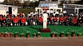 Indian police band play