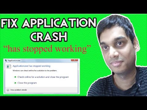 How to fix.exe has stopped working | appcrash solved win 7, 8, 10 | Hindi