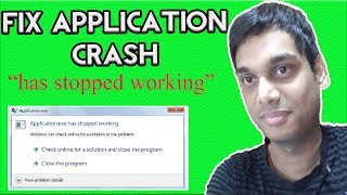 How to fix .exe has stopped working | appcrash solved win 7, 8, 10 | Hindi