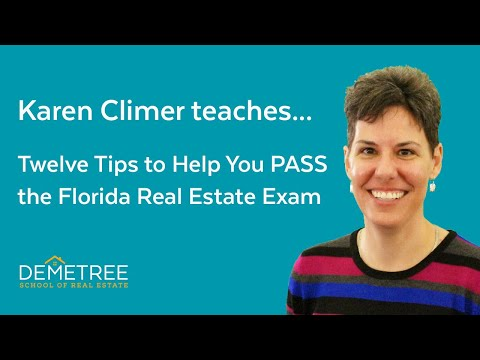 Florida Real Estate Exam – Twelve Simple Tips To Help You Pass The FIRST Time (2020)