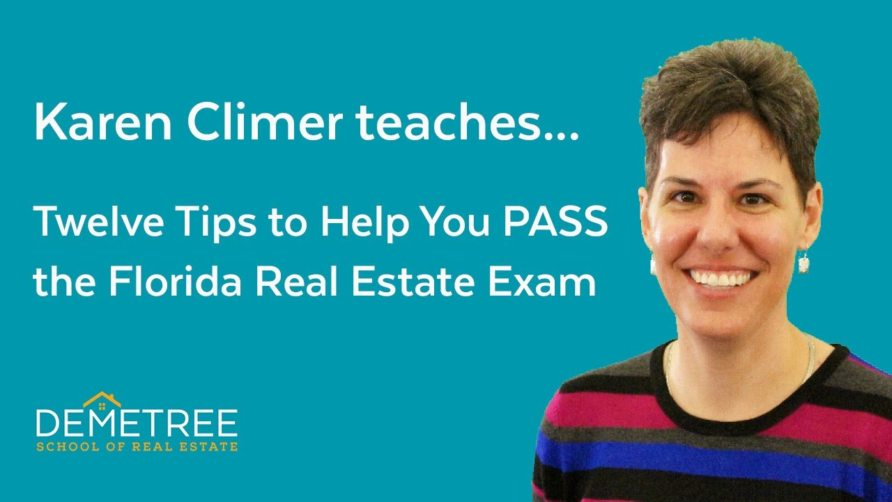Florida Real Estate Exam – Twelve Simple Tips To Help You Pass The FIRST Time (2018)