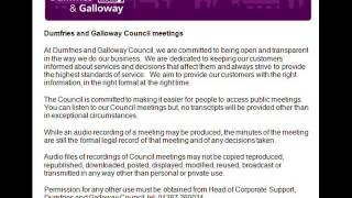 Audio of Dumfries and Galloway Council Full Committee 28 March 2013