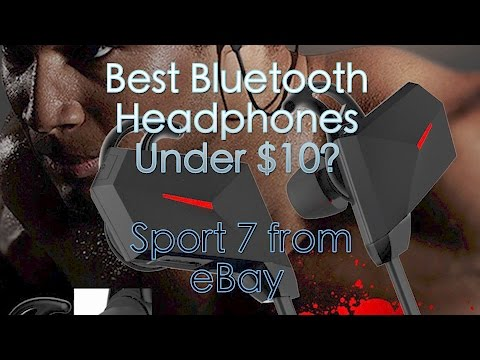 The Best Bluetooth Headphones for $10? - Sport 7 from eBay