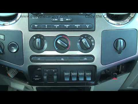 08-10 Ford F250 Factory Radio Removal Simple And Easy