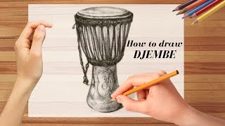 How to draw Djembe