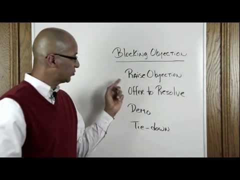 """Sales Training Tip #82 - Introduction to """" Blocking Objections """" System by Victor Antonio"""