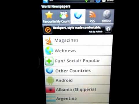 Android App Geek -  World Newspaper App Review