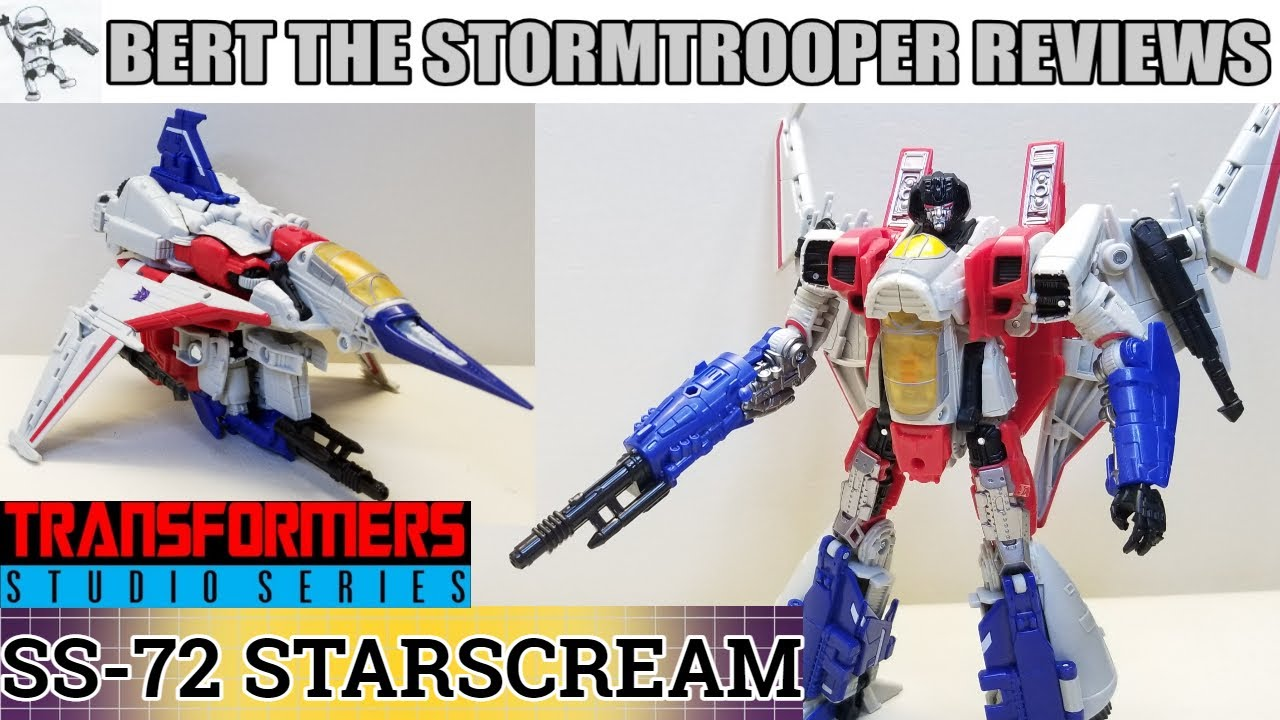 Transformers Studio Series 72 Starscream Review by Bert The Stormtrooper!