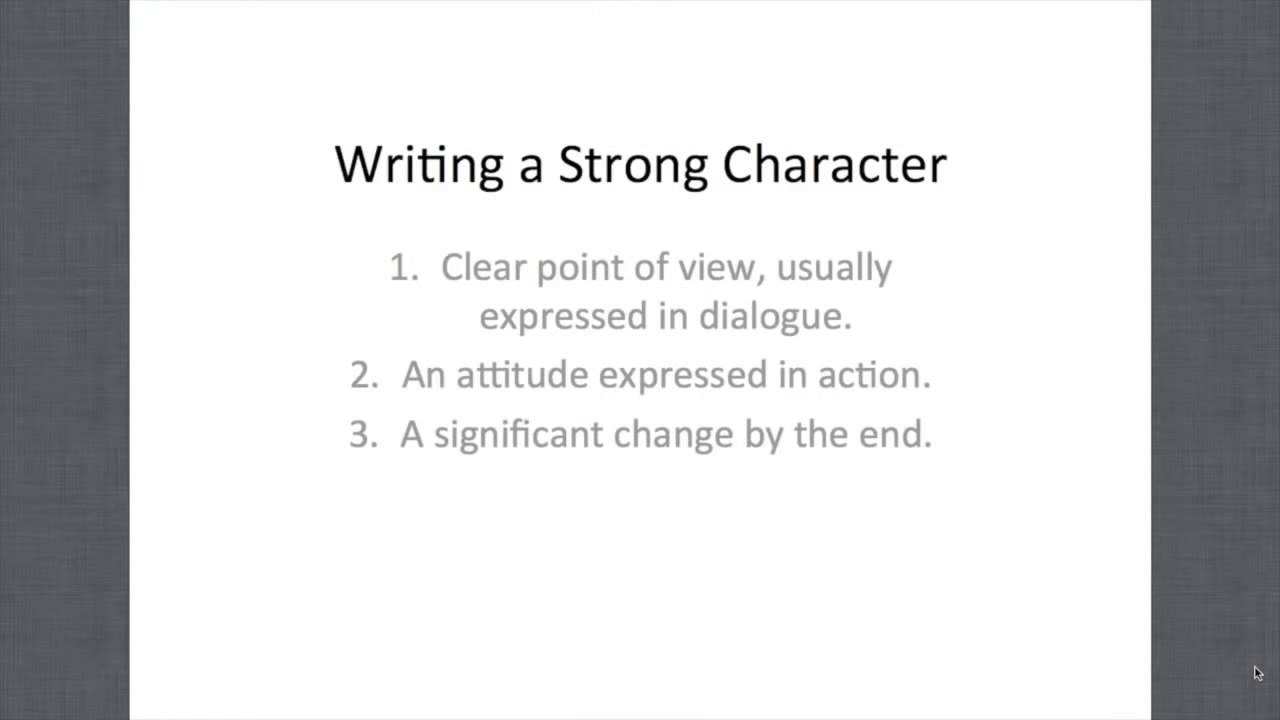 How to Create a Compelling Character Arc - YouTube