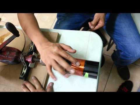 Maquina manual para fabricar bobinas