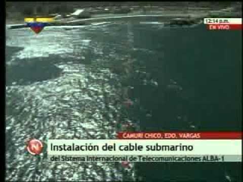 Instalación del cable submarino entre Venezuela y Cuba