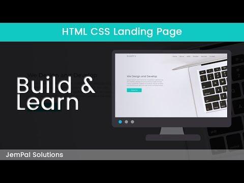 HTML CSS Landing Page Tutorial thumbnail