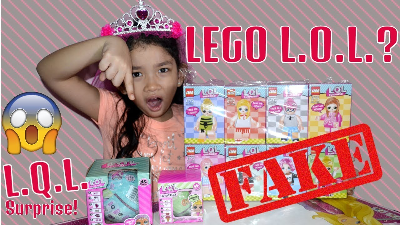 FUNNY FAKE LOL DOLLS UNBOXING! LQL \u0026 NEW SERIES LEGO LOL SURPRISE?? FAKE VS  REAL REVIEW
