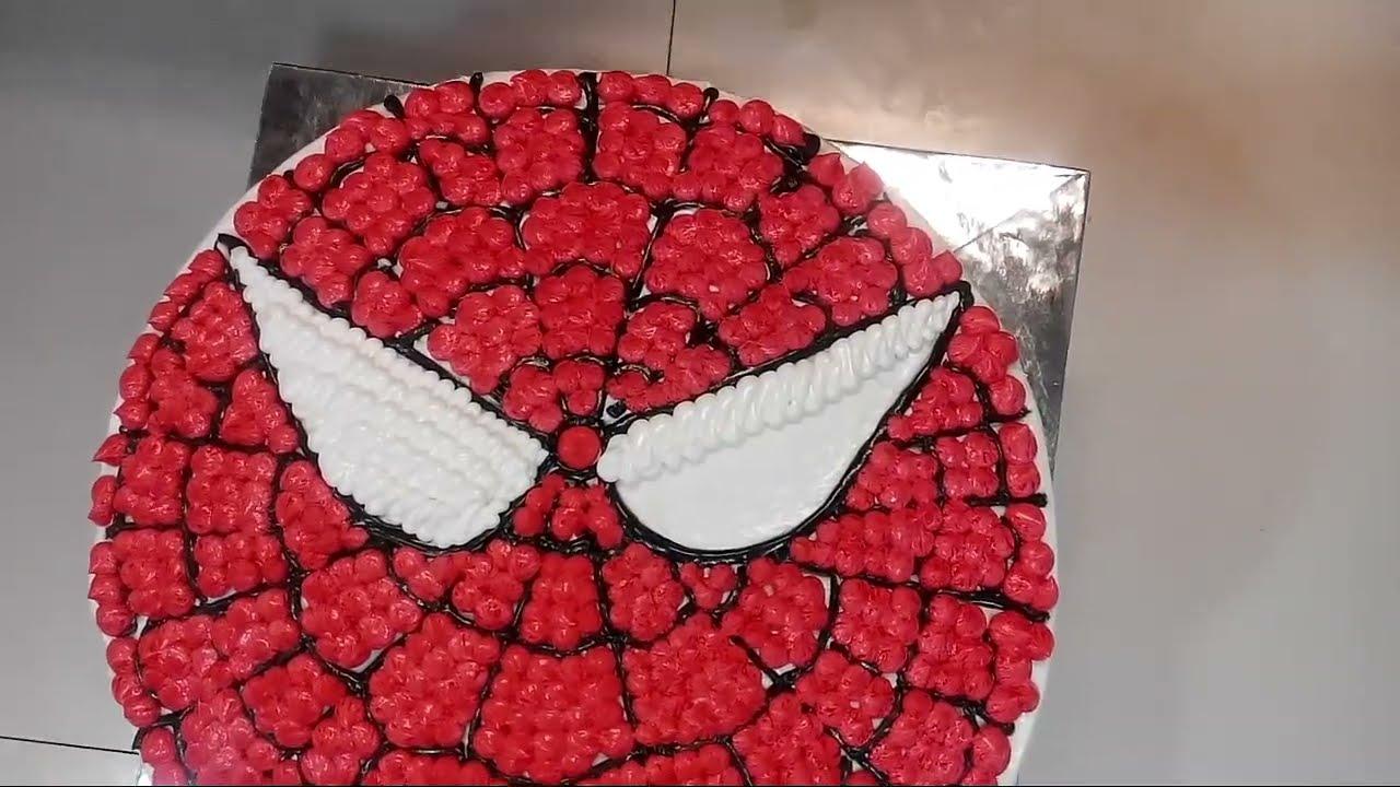 Spiderman Cake Bulat Cara Membuat Kue Karakter Ulang