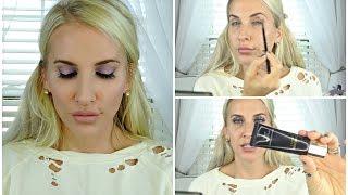 GRWM || Purple Eyes & New Luxury Makeup TESTED!