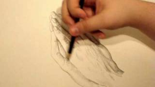 how to draw praying hands pose  #1 --part 4