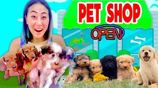 I Opened a FREE PET STORE!!