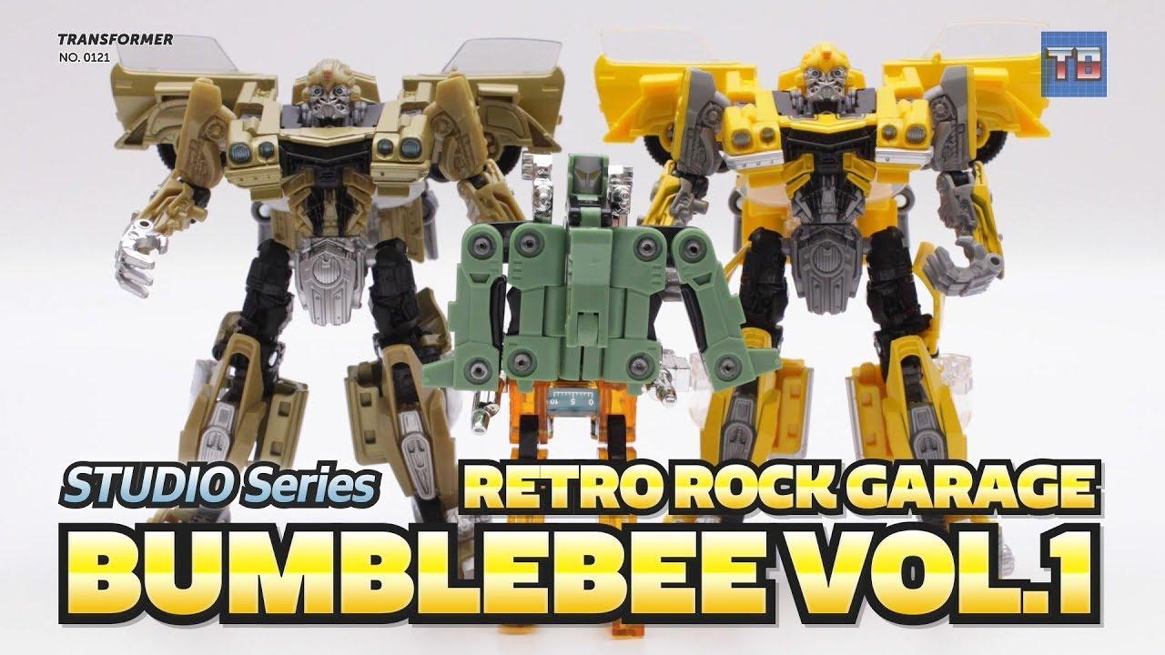 Transformers SDCC 2018 Bumblebee Retro Rock Garage W// Masterpiece Cassettes NEW