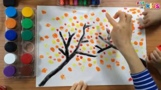 Painting for kids | How to draw a tree for kids | Landscape painting for kids 2 | Art for kids