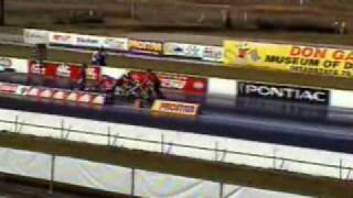 Top Fuel Chris Hand Blown OFF of Bike at 218MPH!!!