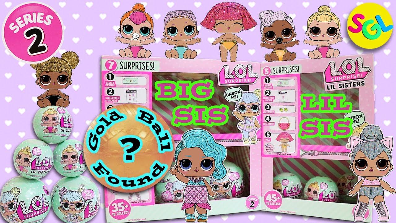 SERIES 2 GOLD BALL Found! LOL Surprise Dolls - Big Sis Lil ...