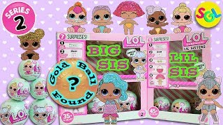 SERIES 2 GOLD BALL Found! LOL Surprise Dolls - Big Sis Lil Sister LIL Outrageous Littles Ultra Rare