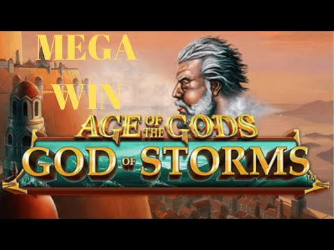 MEGA WIN On Age Of The Gods: God Of Storms Video Slot