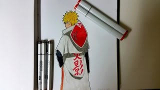 Speed Drawing: Naruto Uzumaki in 4th Hokages Robe
