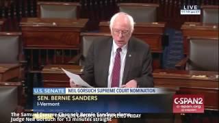Bernie Sanders SLAMS Judge Neil Gorsuch for 13 minutes straight