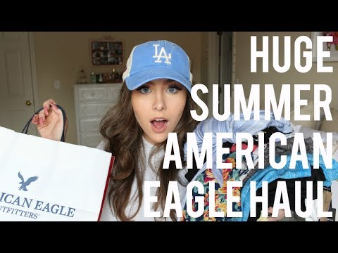 HUGE SPRING & SUMMER AMERICAN EAGLE HAUL & TRY-ON