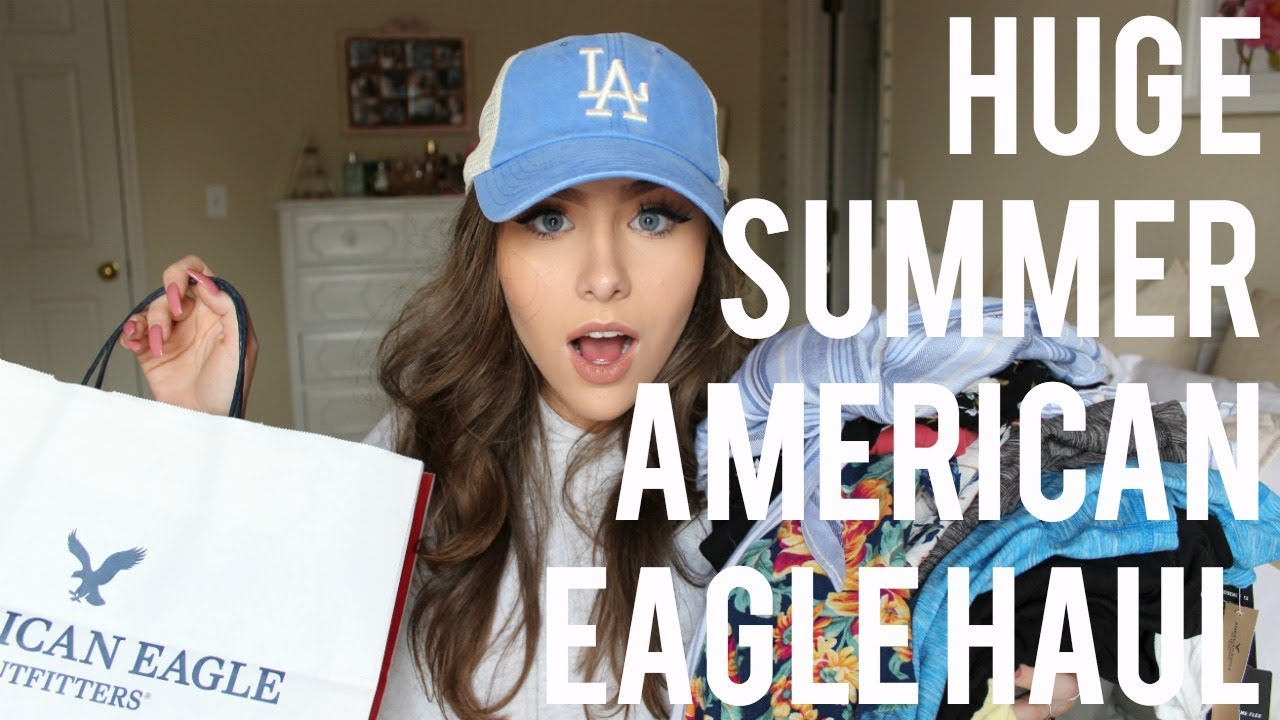 9f024705d HUGE SPRING & SUMMER AMERICAN EAGLE HAUL & TRY-ON - YouTube
