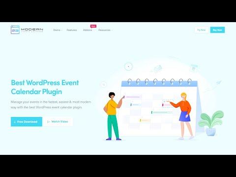 WordPress Event Calendar Plugin - Modern Events Calendar