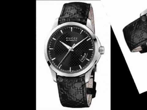 acad264c7f7 Gucci G-Timeless Gents Black Leather Strap Watch YA126413 - YouTube